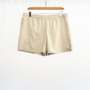 NIKE Cream Color Running Shorts Size L